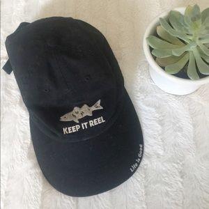 Life is Good keep it reel hat